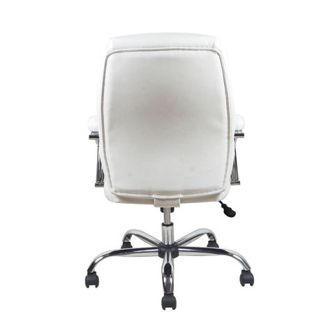 Essentials by OFM ESS-6070 Ergonomic High-Back Bonded Leather Executive Chair, White with Chrome Finish ; UPC: 089191014034 ; Image 3