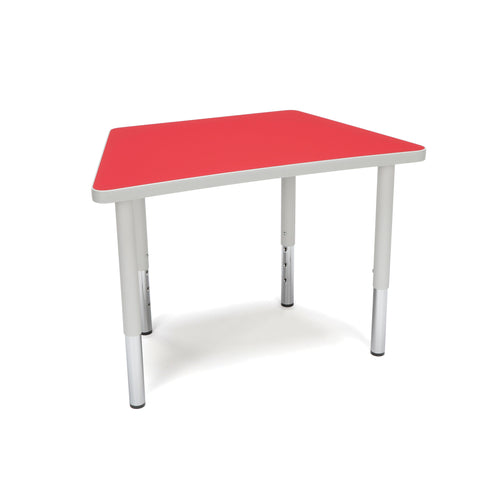 OFM Adapt Series Trapezoid Student Table - 18-26? Height Adjustable Desk, Red (TRAP-SL) ; UPC: 845123096369 ; Image 1