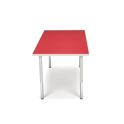 OFM Adapt Series Rectangle Standard Table - 23-31? Height Adjustable Desk, Red (RECT-LL) ; UPC: 845123096048 ; Image 4