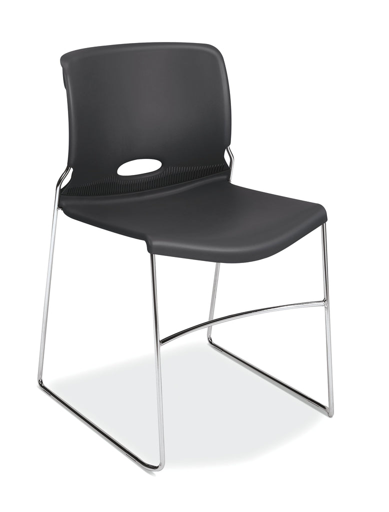 HON Olson Stacking Chair - Guest Chair for Office, Cafeteria, Break Rooms, Training or Multi-Purpose Rooms, Lava Shell, 4 pack (HON4041LA) ; UPC: 791579239860 ; Image 1