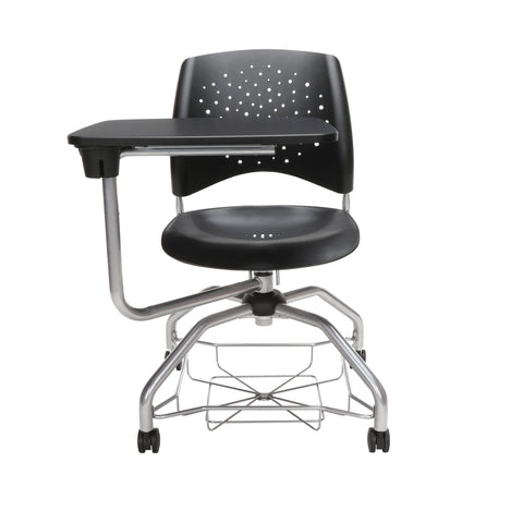 OFM Stars Foresee Series Tablet Chair with Removable Plastic Seat Cushion - Student Desk Chair, Black (329T-P) ; UPC: 845123094297 ; Image 2