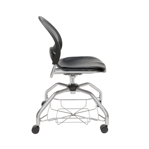 OFM Moon Foresee Series Chair with Removable Vinyl Seat Cushion - Student Chair, Black (339-VAM) ; UPC: 845123094563 ; Image 4