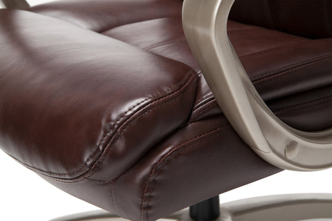 Essentials by OFM ESS-6020 Executive Office Chair, Brown with Champagne Frame ; UPC: 845123093269 ; Image 9