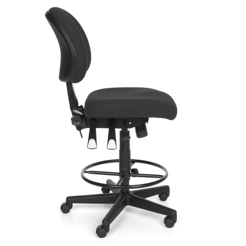 OFM 241-DK 24 Hour Ergonomic Upholstered Armless Task Chair with Drafting Kit, Charcoal ; UPC: 845123012536 ; Image 4