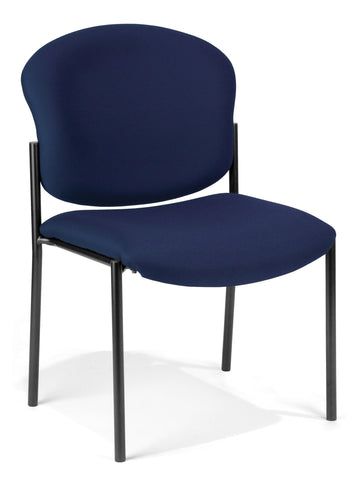 OFM 408-804 Armless Stack Chair, Navy ; UPC: 811588013173 ; Image 1