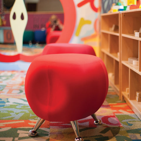 OFM Jupiter Series Fabric Ball Stool, in Red (2001-2312) ; UPC: 845123053324 ; Image 13