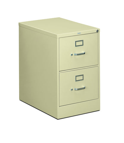HON 310 Series Vertical File Cabinet Legal Width, 2 Drawers, Putty (H312C) ; UPC: 089192039982 ; Image 1