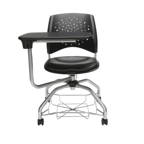 OFM Stars Foresee Series Tablet Chair with Removable Vinyl Seat Cushion - Student Desk Chair, Black (329T-VAM) ; UPC: 845123094341 ; Image 2