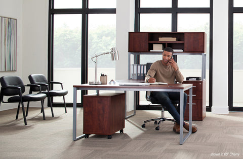 OFM Fulcrum Series 66x30 Desk, Minimalistic Modern Office Desk, Cherry (CL-D6630-CHY) ; UPC: 845123097182 ; Image 8