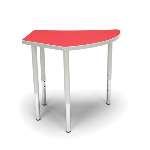 OFM Adapt Series Crescent Standard Table - 23-31? Height Adjustable Desk, Red (CREST-LL) ; UPC: 845123096529 ; Image 3