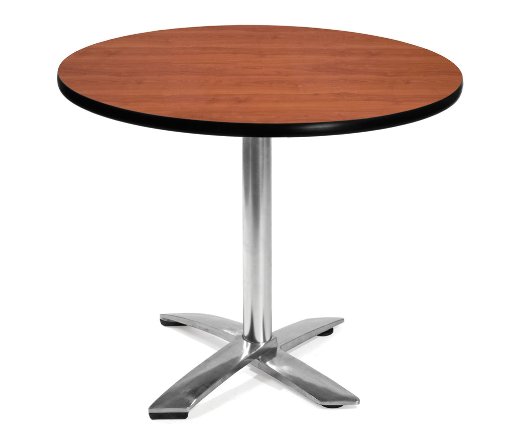 "OFM Model FT36RD 36"" Round Flip-Top Multi-Purpose Table, Cherry ; UPC: 811588010004 ; Image 1"