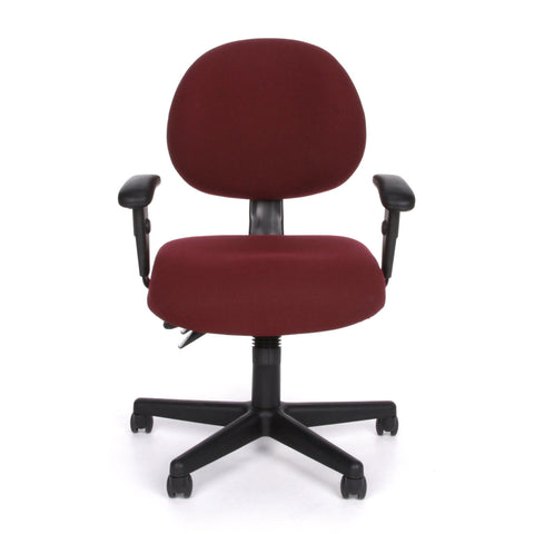OFM Model 241-AA 24-Hour Ergonomic Multi-Adjustable Upholstered Task Chair with Arms, Burgundy ; UPC: 845123012352 ; Image 2