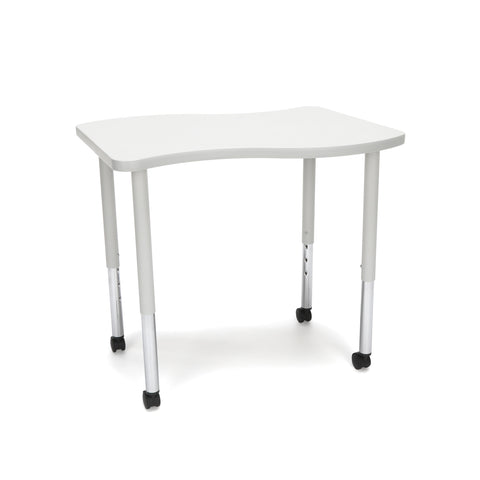 OFM Adapt Series Small Wave Standard Table - 25-33? Height Adjustable Desk with Casters, Gray Nebula (WAVE-S-LLC) ; UPC: 845123097083 ; Image 1