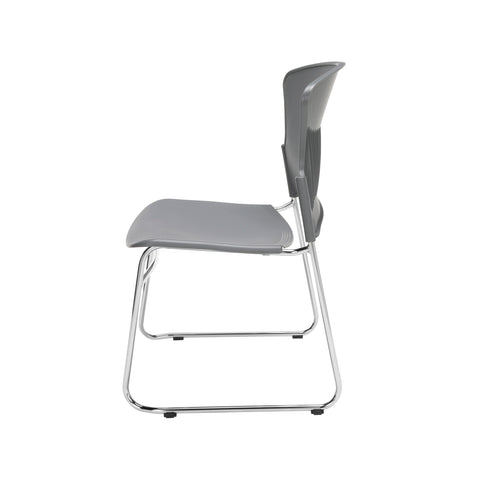 OFM Multi-Use Model 310-P Stack Chair with Plastic Seat and Back, Gray ; UPC: 811588013869 ; Image 5