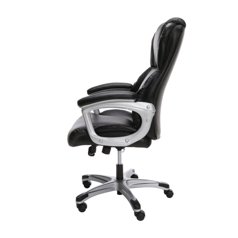 OFM Essentials Series Ergonomic Executive Bonded Leather Office Chair, in Black (ESS-6033-BLK) ; UPC: 192767000284 ; Image 3