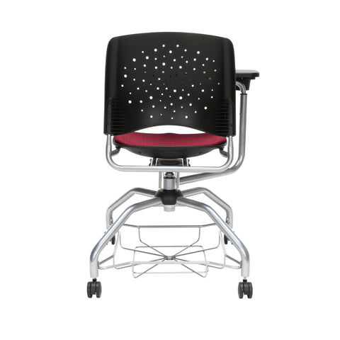 OFM Stars Foresee Series Tablet Chair with Removable Fabric Seat Cushion - Student Desk Chair, Burgundy (329T) ; UPC: 845123094235 ; Image 3