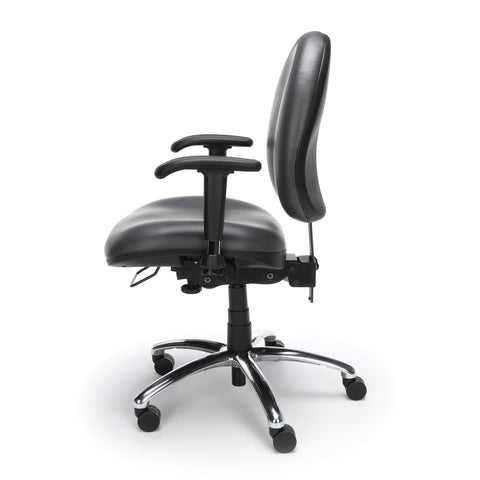 OFM Model 247-VAM 24 Hour Big and Tall Ergonomic Computer Swivel Task Chair with Arms, Anti-Microbial/Anti-Bacterial Vinyl, Charcoal ; UPC: 811588013036 ; Image 5