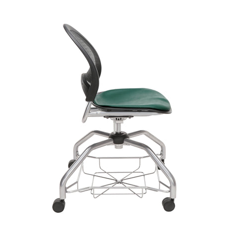 OFM Moon Foresee Series Chair with Removable Vinyl Seat Cushion - Student Chair, Teal (339-VAM) ; UPC: 845123094525 ; Image 4