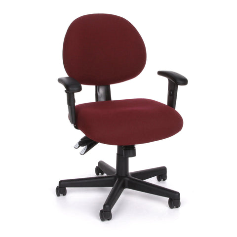 OFM Model 241-AA 24-Hour Ergonomic Multi-Adjustable Upholstered Task Chair with Arms, Burgundy ; UPC: 845123012352 ; Image 1