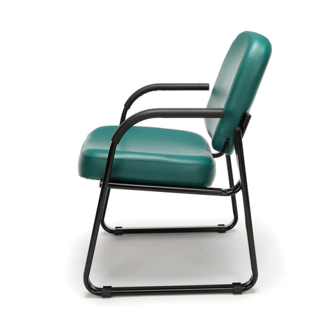 OFM Model 403-VAM Guest and Reception Chair with Arms, Anti-Microbial/Anti-Bacterial Vinyl, Teal ; UPC: 811588014170 ; Image 5