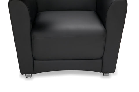 OFM InterPlay Series Single Seat Chair with Bronze Tablet, in Black (821-PU606-BRONZ) ; UPC: 845123031018 ; Image 7