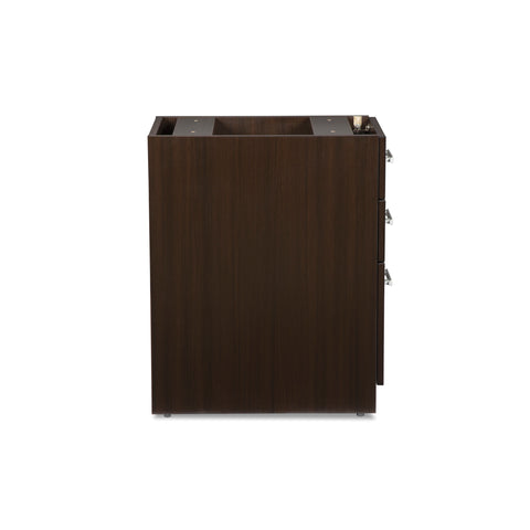 OFM Fulcrum Series Locking Pedestal, 3-Drawer Filing Cabinet, Espresso (CL-BBF-ESP) ; UPC: 845123097441 ; Image 4