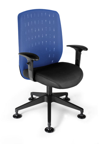 OFM Vision Executive Guest Chair - Mesh Back Conference Chair, Royal Blue (655-2703) ; UPC: 845123005866 ; Image 1