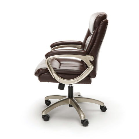 Essentials by OFM ESS-6020 Executive Office Chair, Brown with Champagne Frame ; UPC: 845123093269 ; Image 5