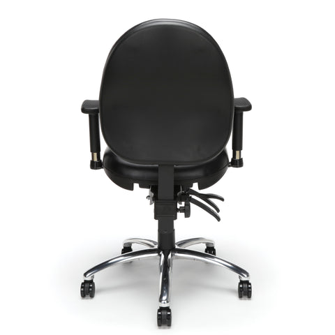 OFM Model 247-VAM 24 Hour Big and Tall Ergonomic Computer Swivel Task Chair with Arms, Anti-Microbial/Anti-Bacterial Vinyl, Black ; UPC: 811588013050 ; Image 3
