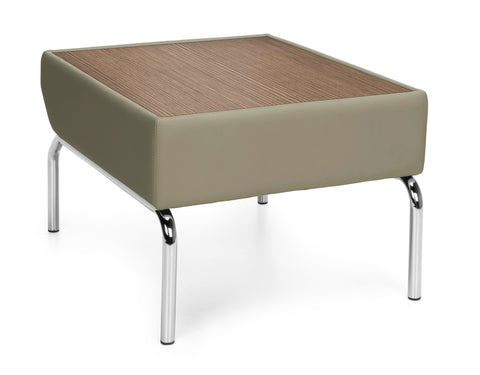 OFM Triumph Series Model 3010 Laminate Top Table with Polyurethane Border and Chrome Frame, Taupe with Bronze ; UPC: 845123052501 ; Image 1