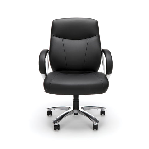 OFM Avenger Series Model 811-LX Leather Mid-Back Big and Tall Executive Chair, Black ; UPC: 845123009918 ; Image 2