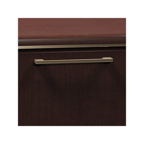 Bush Enterprise Collection 72W X 30D Double Pedestal Desk with Hutch/Lateral File, Mocha Cherry ENT001MR ; UPC: 042976505165 ; Image 4