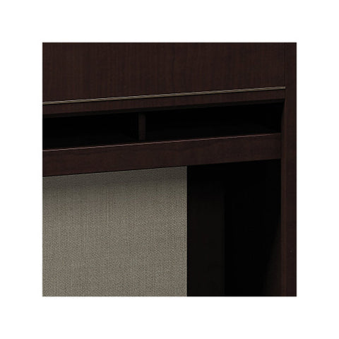 Bush Enterprise Collection 72W X 30D Double Pedestal Desk with Hutch, Mocha Cherry ENT006MR ; UPC: 042976505370 ; Image 4