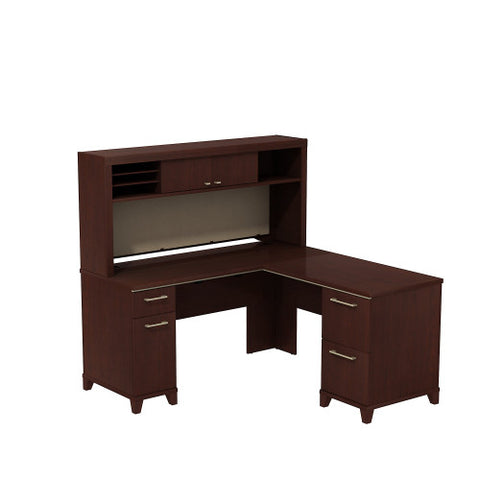 Bush Enterprise Collection 60W X 60D L-Desk with Hutch Storage, Harvest Cherry ENT007CS ; UPC: 042976516871 ; Image 1