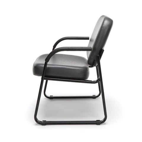 OFM Model 403-VAM Guest and Reception Chair with Arms, Anti-Microbial/Anti-Bacterial Vinyl, Charcoal ; UPC: 811588014200 ; Image 5