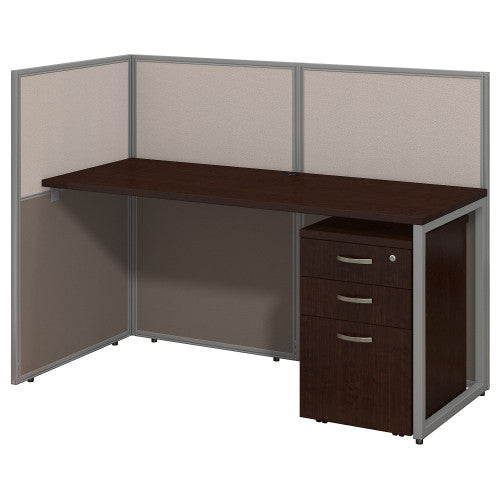Bush Easy Office Collection 60W Straight Desk Open Office with Mobile Ped, Mocha Cherry EOD160SMR03K ; UPC: 042976365684
