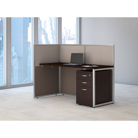 Bush Easy Office Collection 60W Straight Desk Open Office with Mobile Ped, Mocha Cherry EOD160SMR03K ; UPC: 042976365684 ; Image 2