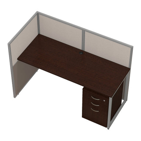 Bush Easy Office Collection 60W Straight Desk Open Office with Mobile Ped, Mocha Cherry EOD160SMR03K ; UPC: 042976365684 ; Image 3