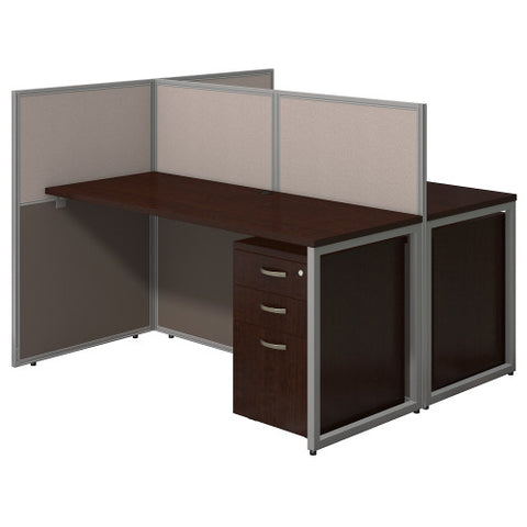 Bush Easy Office Collection 60W 2 Person Straight Desk Open Office, Mocha Cherry EOD460SMR03K ; UPC: 042976365714