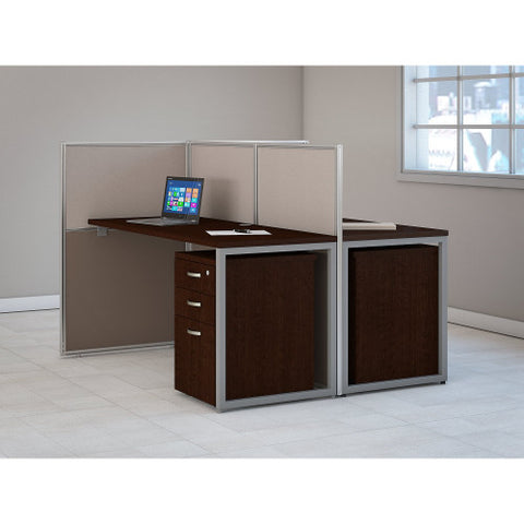 Bush Easy Office Collection 60W 2 Person Straight Desk Open Office, Mocha Cherry EOD460SMR03K ; UPC: 042976365714 ; Image 2