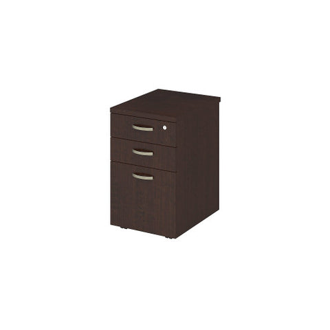Bush Easy Office Collection 16W 3 Drawer Mobile Pedestal, Mocha Cherry EOF116MR03 ; UPC: 042976365530