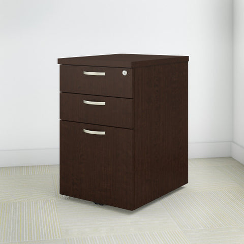 Bush Easy Office Collection 16W 3 Drawer Mobile Pedestal, Mocha Cherry EOF116MR03 ; UPC: 042976365530 ; Image 2