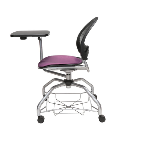 OFM Moon Foresee Series Tablet Chair with Removable Fabric Seat Cushion - Student Desk Chair, Plum (339T) ; UPC: 845123094693 ; Image 5
