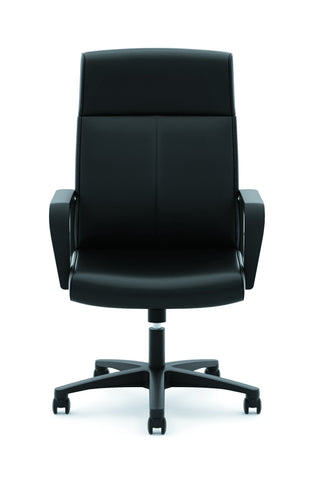 HON Validate High-Back Executive Task Chair, Fixed Arms, in Black Leather (HVL604) ; UPC: 888531643459 ; Image 2