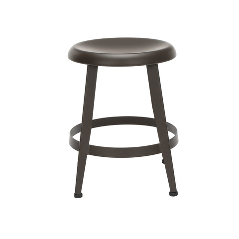 "OFM Core Collection Edge Series 18"" Table Height Metal Stool, in Antique Brown (33918M-ABRN) ; UPC: 192767002424 ; Image 4"