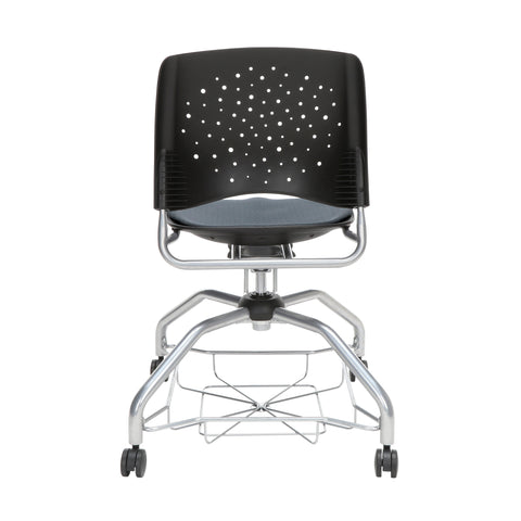 OFM Stars Foresee Series Chair with Removable Fabric Seat Cushion - Student Chair, Slate Gray (329) ; UPC: 845123094020 ; Image 3