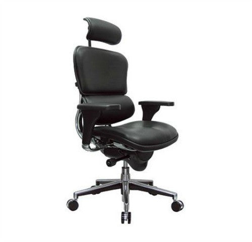Eurotech_Ergohuman Black Leather High Back Chair EUTLE9ERGBLK_Black Leather / Factory Direct