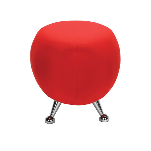 OFM Jupiter Series Fabric Ball Stool, in Red (2001-2312) ; UPC: 845123053324 ; Image 4