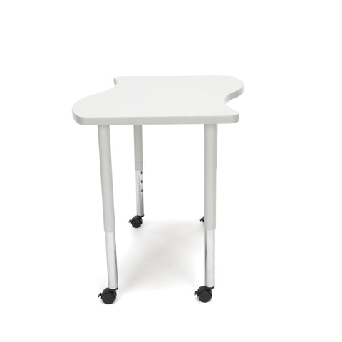 OFM Adapt Series Small Wave Standard Table - 25-33? Height Adjustable Desk with Casters, Gray Nebula (WAVE-S-LLC) ; UPC: 845123097083 ; Image 4