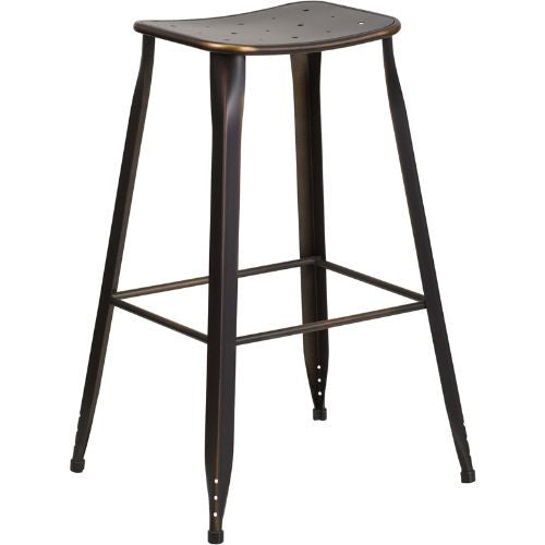 30'' High Copper Metal Indoor-Outdoor Barstool; (UPC: 889142047254); Copper